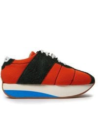 Marni - Mesh And Suede Low-top Trainers - Lyst