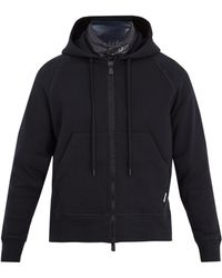 Moncler Grenoble - Logo-appliqué Zip-through Cotton Sweatshirt - Lyst
