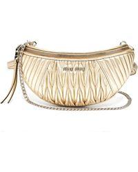 Miu Miu - Mattelassé Quilted Leather Belt Bag - Lyst