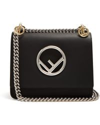 Fendi - Kan I Leather Cross Body Bag - Lyst