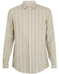 Massimo Alba - Point-collar Striped Linen Shirt - Lyst