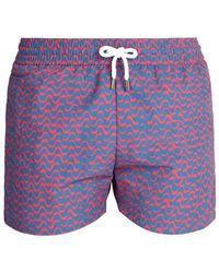 Frescobol Carioca - Sports Wave-print Swim Shorts - Lyst