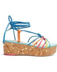Sophia Webster - Copacabana Leather Flatform Sandals - Lyst