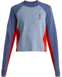 LNDR - Contrast Panelled Wool Sweater - Lyst