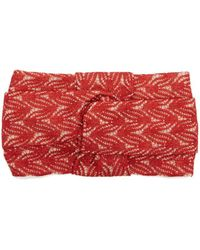 Missoni Knotted Lamé Headband - Red