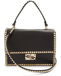 Valentino - Rockstud No Limit Leather Cross-body Bag - Lyst