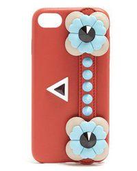 Fendi - Flowerland-embellished Leather Iphone® 7 Case - Lyst