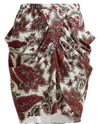 Isabel Marant - Tilena Paisley-print Crepe Skirt - Lyst