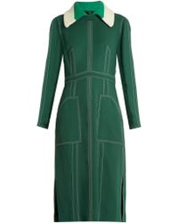 Burberry Prorsum - Detachable-collar Crepe Dress - Lyst