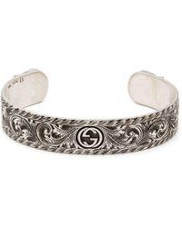 Gucci - Tiger-head Sterling-silver Cuff Bracelet - Lyst