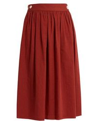 Loup Charmant - Side Button Cotton Skirt - Lyst