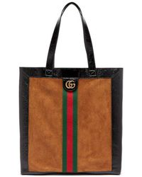 Gucci - - Ophidia Suede Large Tote With Leather Trim - Mens - Brown Multi - Lyst