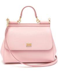 53679dc8855 Dolce & Gabbana - Sicily Medium Dauphine Leather Bag - Lyst