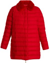Moncler Gamme Rouge - Winnipeg Fur Trimmed Quilted Down Cashmere Coat - Lyst