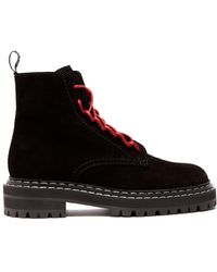 Proenza Schouler - Lace-up Suede Ankle Boots - Lyst
