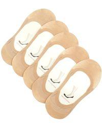Falke | Set Of Five Step Invisible Liner Socks | Lyst