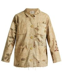 By Walid - Hazy-jungle Print Cotton-canvas Jacket - Lyst