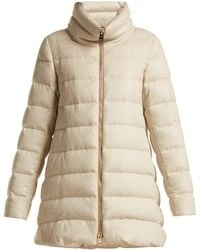 Herno - Funnel-neck Quilted-down Mid-length Coat - Lyst