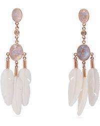Jacquie Aiche - - Dream Catcher Moonstone & Bone Rose Gold Earrings - Womens - Rose Gold - Lyst