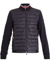 Moncler - Contrast-panel Quilted Down Cotton Jacket - Lyst