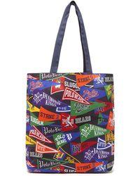 578bd639b3 Polo Ralph Lauren - Varsity Flag Print Cotton Canvas Tote Bag - Lyst