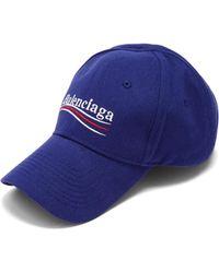 Balenciaga   Logo-embroidered Cotton Cap   Lyst