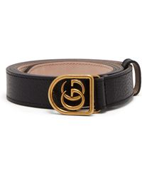 54bc40f6b2d Lyst - Gucci Gg-buckle Canvas Belt in Red for Men