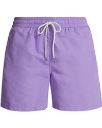 Polo Ralph Lauren - Block Colour Swim Shorts - Lyst