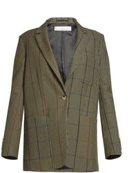Golden Goose Deluxe Brand - Marisa Single-breasted Checked Jacket - Lyst