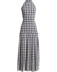 Sonia Rykiel | Knitted Gingham Dress | Lyst