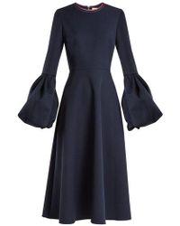 ROKSANDA - Aylin Bell-cuff Stretch-crepe Dress - Lyst