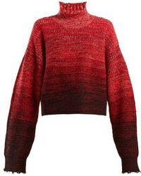 Helmut Lang - High-neck Wool-blend Degradé Jumper - Lyst