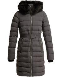 Burberry - Limehouse Shearling Trim Padded Coat - Lyst