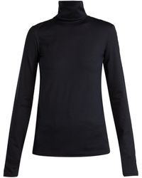 Jil Sander - Roll-neck Cotton-blend Top - Lyst