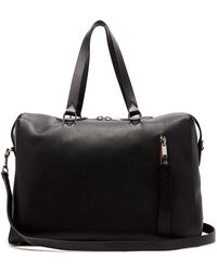 Burberry - Grained-leather Holdall - Lyst