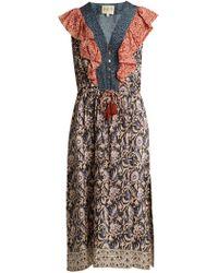 Sea - Maho Border Floral-print Silk Dress - Lyst