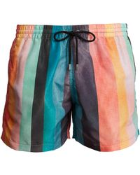 Paul Smith - Artist Stripe-print Swim Shorts - Lyst