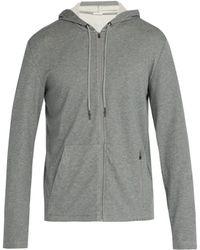 Falke - Flight Mélange Cotton-blend Jersey Zip-up Hoodie - Lyst
