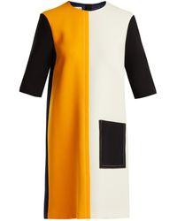 Marni - Colour Block Wool Dress - Lyst