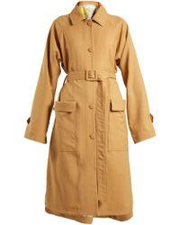 Golden Goose Deluxe Brand   Amanda Point-collar Gabardine Trench Coat   Lyst