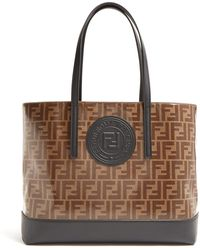 64af3b2332d6 Fendi - Brown And Black Forever Shopper Tote - Lyst