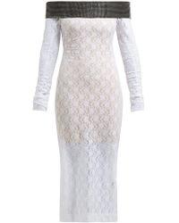 76af267d1f1 Christopher Kane - Crystal Embellished Chantilly Lace Midi Dress - Lyst