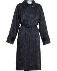 Peter Pilotto - Satin Jacquard Trench Coat - Lyst