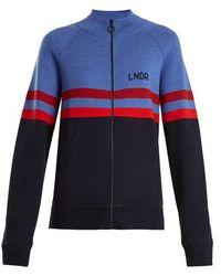 LNDR - Aspen Zip-through Striped Wool Jumper - Lyst