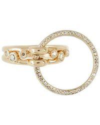 Charlotte Chesnais - Three Lovers Diamonds & Yellow Gold Ring - Lyst