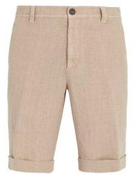 Brunello Cucinelli - Washed-linen Rolled-hem Shorts - Lyst