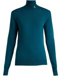 Raf Simons - Roll Neck Merino Wool Blend Sweater - Lyst
