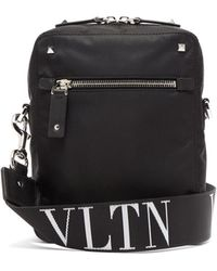 da7ff7cf4d69e Valentino - Vltn Jacquard Rockstud Messenger Bag - Lyst