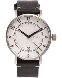 Bravur | Bw001 Stainless-steel And Grained-leather Watch | Lyst