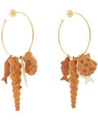 Rebecca de Ravenel - Tallulah Charm Hoop Earrings - Lyst